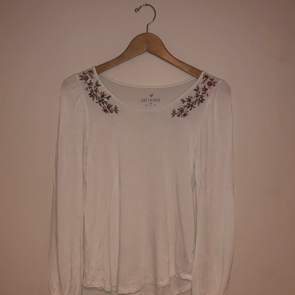 Floral Embroidered Top   Size S